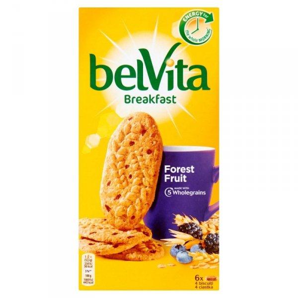 belVita Breakfast Ciastka zbożowe z owocami leśnymi 300 g