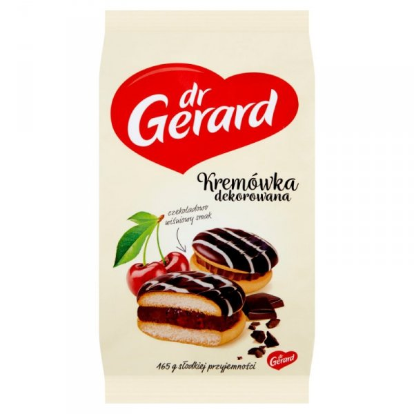 dr Gerard Kremówka dekorowana czekoladowo wiśniowy smak 165 g