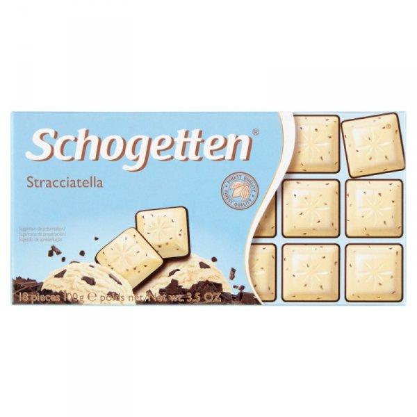 Schogetten Czekolada biała z wiórkami kakao i czekoladą 100 g