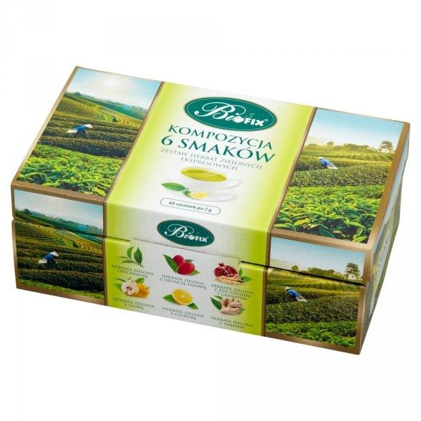 BIFIX Zestaw herbat zielonych ekspresowych kompozycja 6 smaków