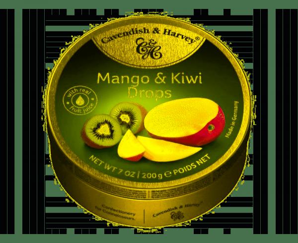 Landrynki Cavendish Mango & Kiwi Drops o smaku mango i kiwi 200g