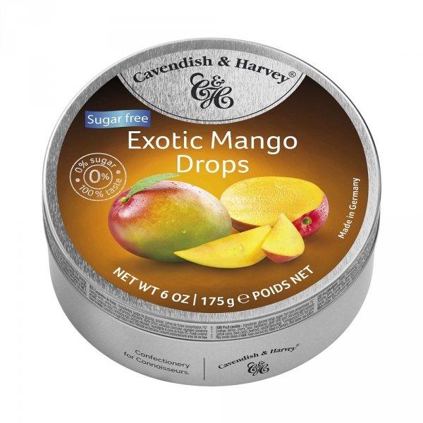 Landrynki Cavendish & Harvey Mango Fruit o smaku mango Bez cukru 175g