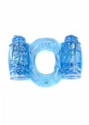 Pierścień-Vibrating CockRing Double Blue