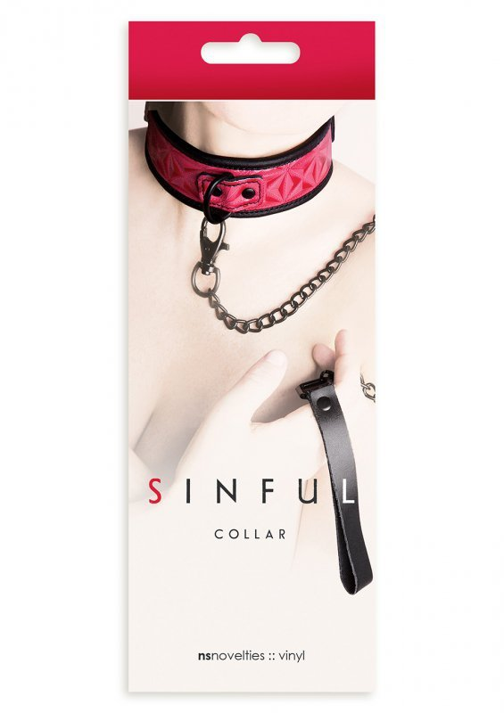 Wiązania-SINFUL COLLAR PINK
