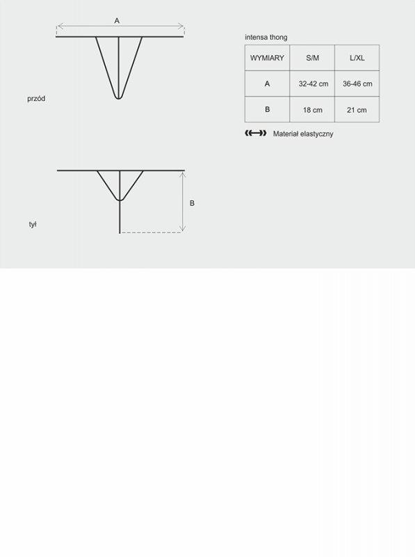Bielizna-Intensa stringi L/XL