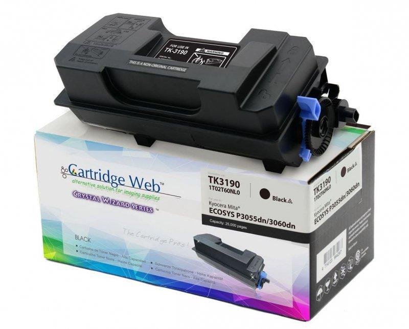 Toner Cartridge Web Czarny Kyocera TK3190 zamiennik TK-3190 (z pojemnikiem na zużyty toner WASTE BOX)
