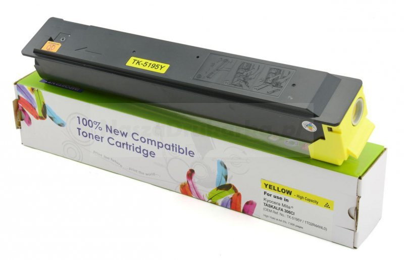 Toner Cartridge Web Yellow Kyocera TK5195 zamiennik TK-5195Y