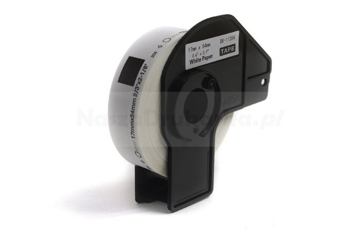 Etykiety JetWorld Zamiennik Brother DK Czarny na Białym 17mm*54mm*400 szt.  DK11204, DK-11204, DK11.204