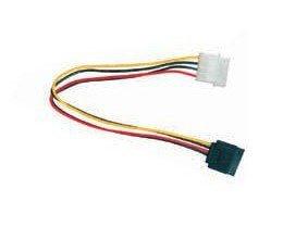 Kabel GEMBIRD CC-SATA-PS (Molex 4-pin M - SATA F; 0,15m; kolor czarny, kolor czerwony, kolor żółty)