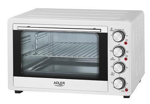 Mini piekarnik Adler AD 6001 (1600W; kolor biały)