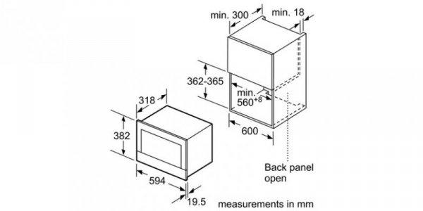 Kuchenka mikrofalowa BOSCH BFL634GW1 (900W; 21l; kolor biały)