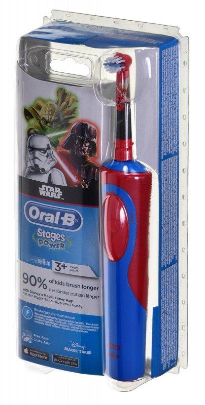 Szczoteczka do zębów Braun Oral-B Vitality kids Star Wars (kolor czerwony)