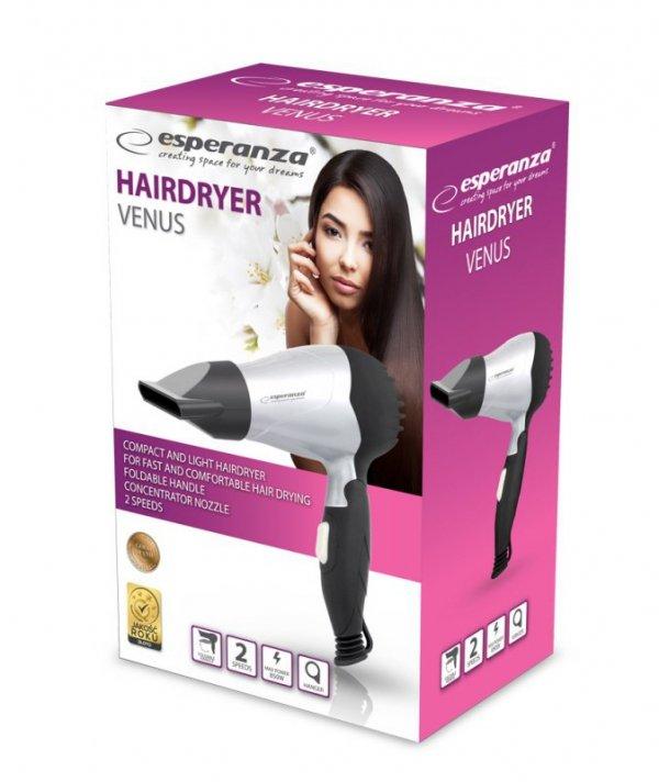 Suszarka do włosów Esperanza Venus EBH002S (850W; kolor czarny)