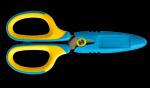 Nożyczki szkolne 5 1/4 żółto-niebieskie GN265-YN TETIS