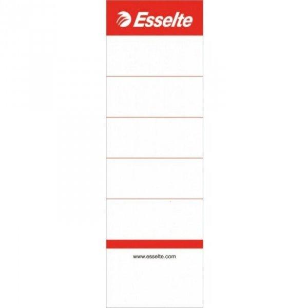 Etykiety grzbietowe do segregatorów 75mm białe 10szt 810801 ESSELTE