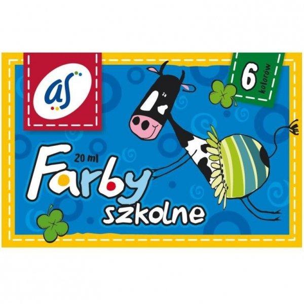 Farby plakatowe 6 kolorów 20ml `AS` 301219001 ASTRA