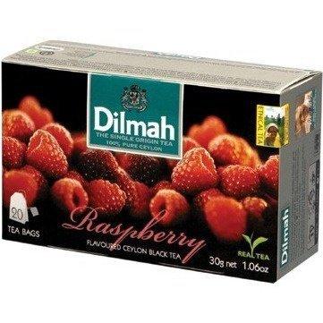 Herbata DILMAH (20 torebek) czarna z aromatem Maliny