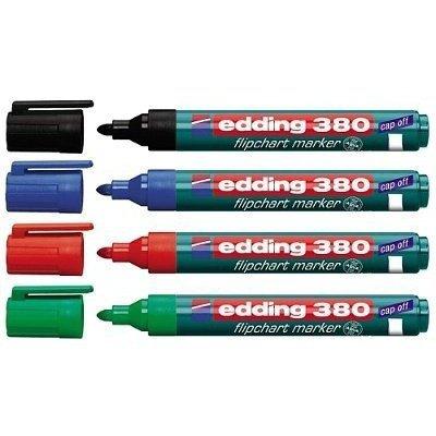 Marker flipchart okrągły 1.5-3mm - komplet 4szt EDDING 380/4S