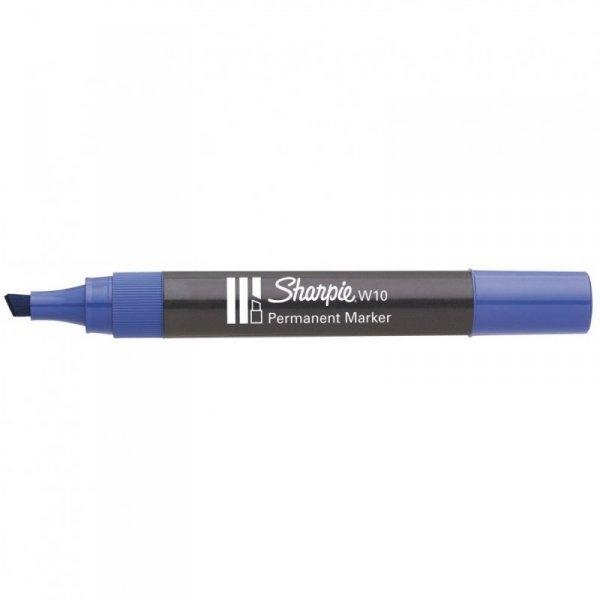 Marker permanetny W10 ścięty niebieski SHARPIE S0192693