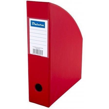 Pojemnik na czasopisma NATUNA A4 10cm czerwony PCV (SD-36-07)