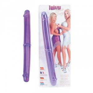 Dildo-TWINZER 12 DOUBLE DONG PURPLE