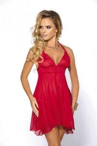 Bielizna-Essie red chemise L (czerwona halka)
