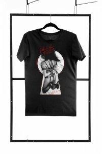 T-shirt men black L regular