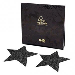 Naklejki na sutki - Bijoux Indiscrets Flash Star Black Czarna Gwiazda
