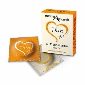 Prezerwatywy MoreAmore Thin Skin Gift - Długie i Cienkie - 3 szt.