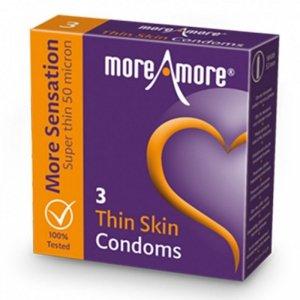 Prezerwatywy - MoreAmore Condom Thin Skin 3 szt