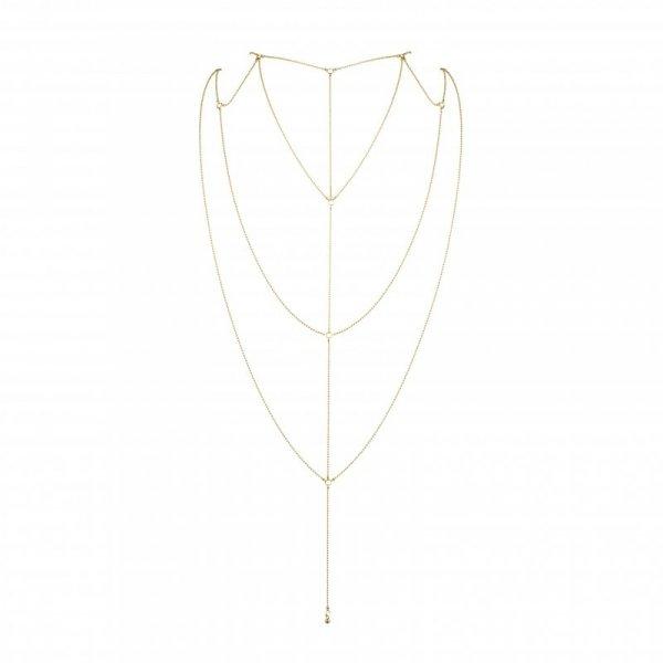Łańcuszki na plecy i dekolt - Bijoux Indiscrets Magnifique Back & Cleavage Chain Gold