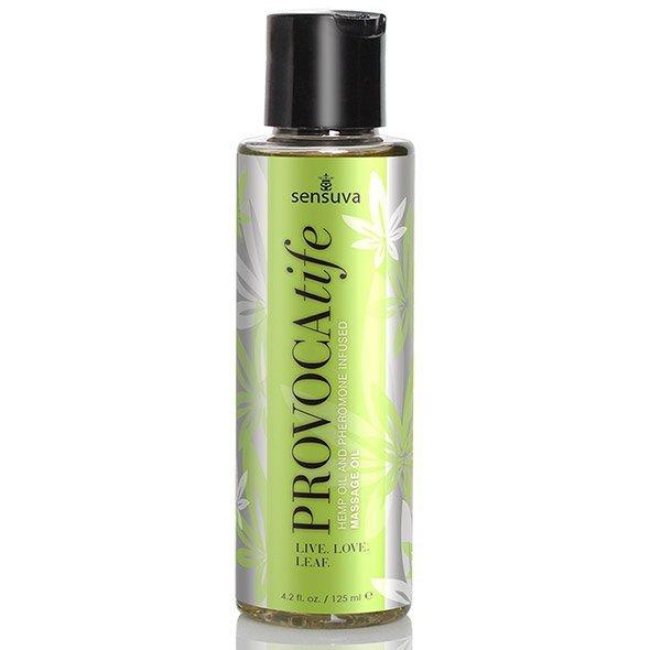 Olejek do masażu - Sensuva Provocatife Cannabis Oil & Pheromone Infused Massage Oil 120 ml