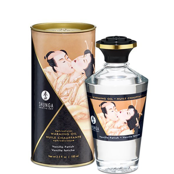Olejek do masażu - Shunga Aphrodisiac Warming Oil Vanilla Fetish 100 ml