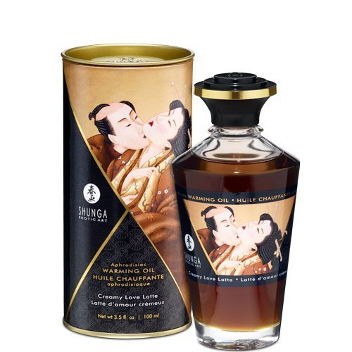 Olejek do masażu - Shunga Aphrodisiac Warming Oil Creamy Latte 100 ml
