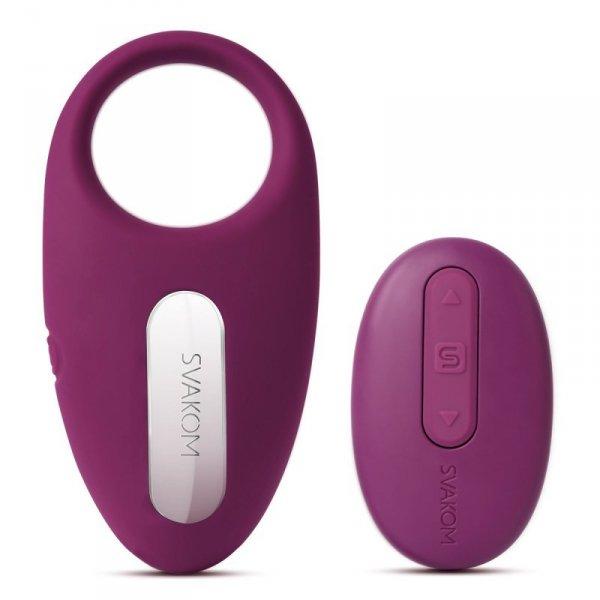 Pierścień erekcyjny wibrujący - Svakom Winni Vibrating Ring Violet