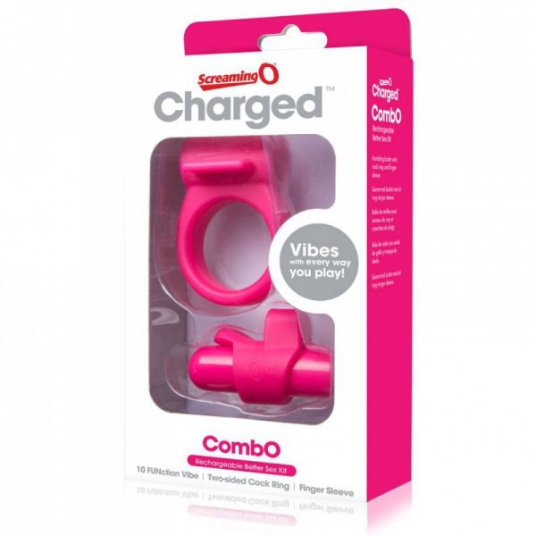 Zestaw akcesoriów - The Screaming O Charged CombO Kit #1 Pink