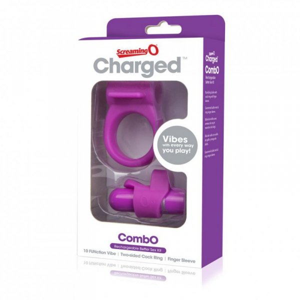 Zestaw akcesoriów - The Screaming O Charged CombO Kit #1 Purple