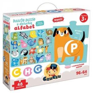 CzuCzu Duuuże puzzle z dziurką Alfabet 3+