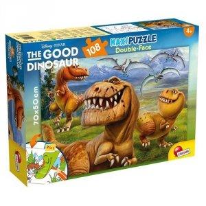 Puzzle dwustronne 2w1 supermaxi 108 Dobry dinozaur
