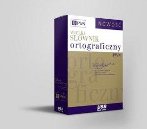 Wielki słownik ortograficzny PWN z zasadami pisowni i interpunkcji Pendrive