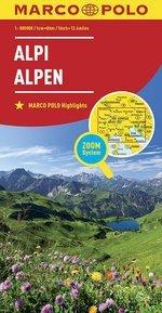Alpi Alpen Marco Polo Highlights 1:800 000 Zoom System