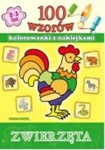 100 wzorów Kolorowanki z naklejkami Zwierzęta