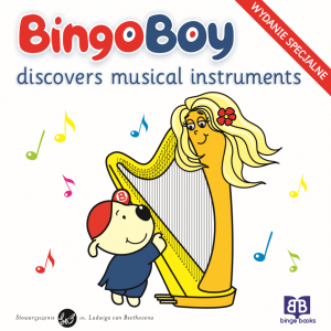 BINGO BOY discovers musical instruments