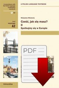 Cześć, jak się masz? II Spotkajmy się w Europie z nagraniami (A2) EBOOK