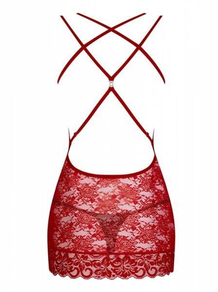 860 CHE3 koszulka i stringi czerwona L/XL
