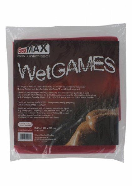 SexMAX WetGAMES Sex sheet, 180 x 220 cm, red