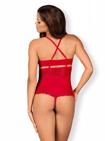 Body otwarte czerwone 838 TED3 S/M