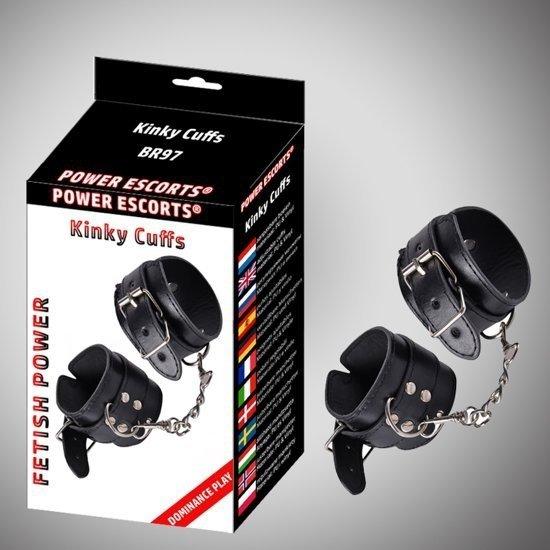 Kinky cuffs black adjustable cuffs