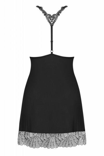Bielizna-Chiccanta koszulka i stringi czarna  S/M
