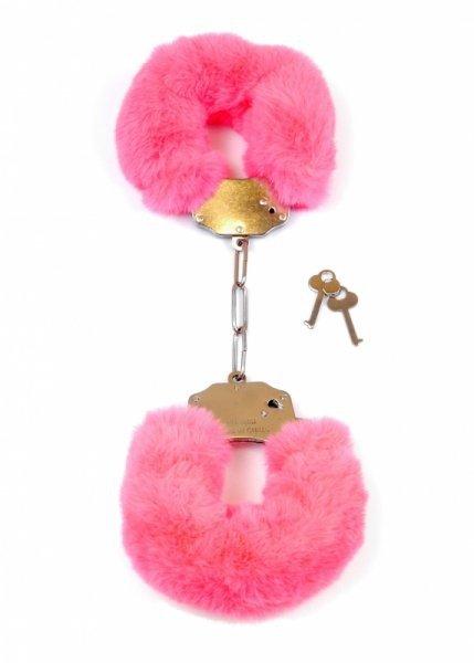 Kajdanki Fetish Boss Series Furry Cuffs Pink